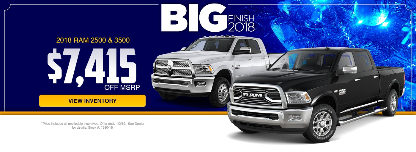 2018 RAM 2500 & 3500 Special at Junction RAM in Chardon, OH