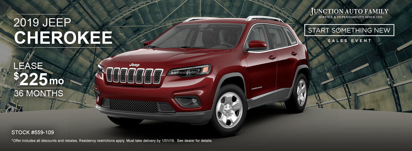 2019 Jeep Cherokee Lease Special at Junction Jeep in Chardon, OH