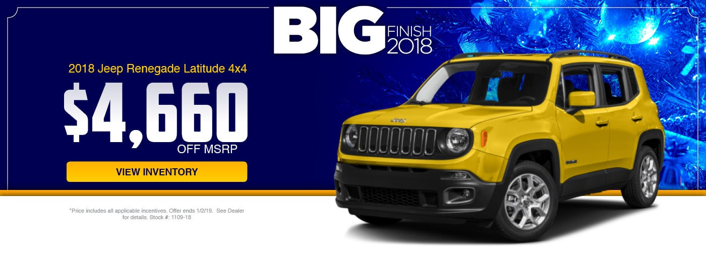 2018 Jeep Renegade Latitude 4x4 Special at Junction Jeep in Chardon, OH