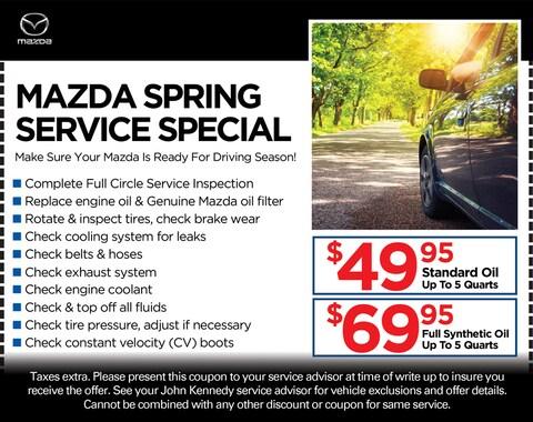 Mazda Spring Service Special