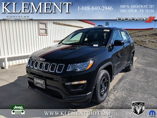 New 2019 Jeep Compass SPORT FWD Sport Utility 3C4NJCAB3KT715445 for sale in Decatur, TX