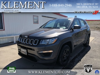 New 2019 Jeep Compass SPORT FWD Sport Utility 3C4NJCAB7KT715450 for sale in Decatur, TX