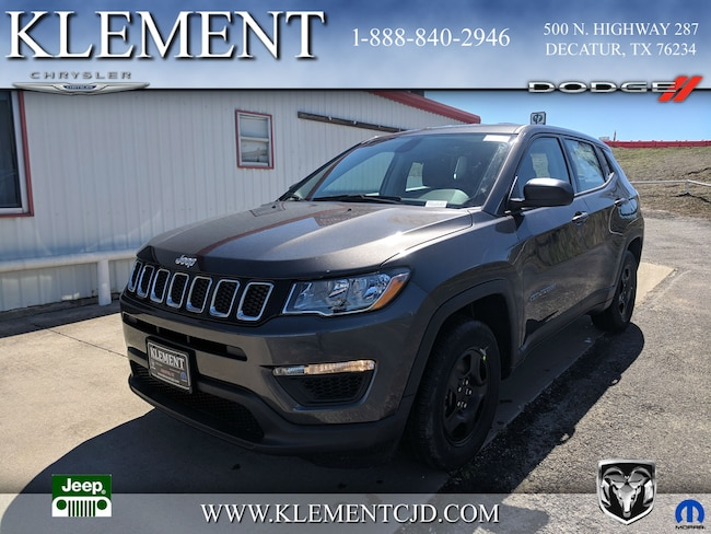 New 2019 Jeep Compass SPORT FWD Sport Utility 3C4NJCAB7KT715450 Decatur