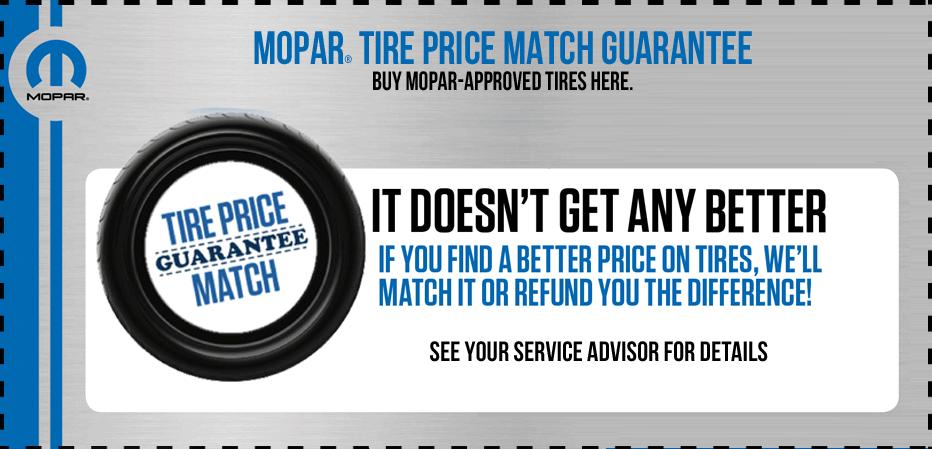 tire price match guarantee klement chrysler dodge jeep ram. Black Bedroom Furniture Sets. Home Design Ideas