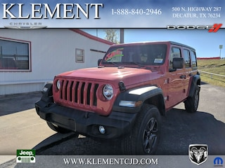 New 2018 Jeep Wrangler UNLIMITED SPORT S 4X4 Sport Utility 1C4HJXDN8JW318610 for sale in Decatur, TX