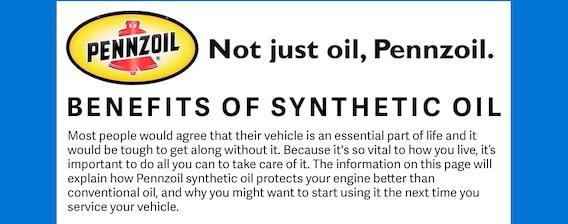 Pennzoil Near Me >> What Are The Advantages Of Synthetic Oil Oil Change Near Me