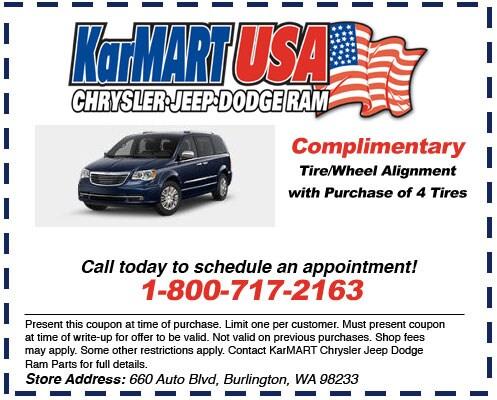 Auto Service Specials in Burlington, WA   KarMART CJDRF