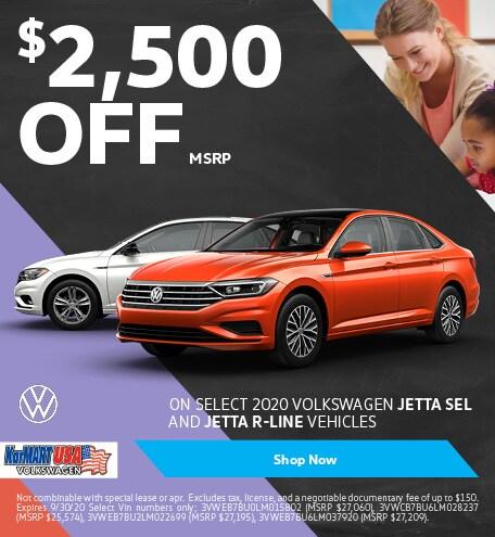 September 2020 Volkswagen Jetta SEL and Jetta R-Line