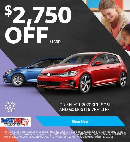 September 2020 Volkswagen Golf 1.4T TSI Hatchback studio