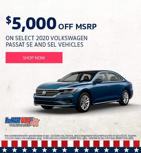 July 2020 Volkswagen Passat SE and SEL Vehicles