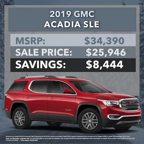 2019 GMC Acadia SLE - $8,444 OFF MSRP