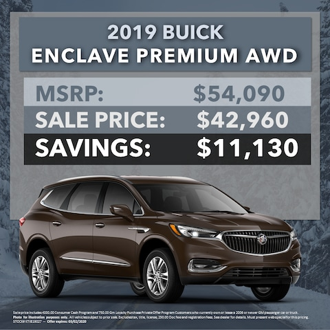 2019 Buick Enclave Premium AWD - $11,130 OFF MSRP!