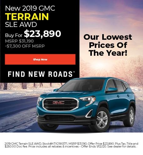 December | 2019 GMC Terrain SLE AWD