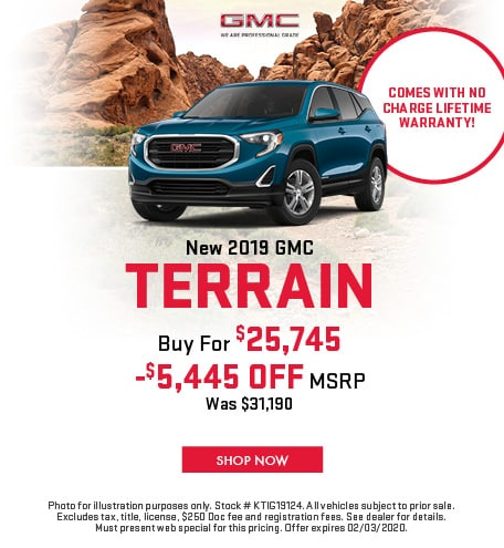 January | 2019 GMC Terrain