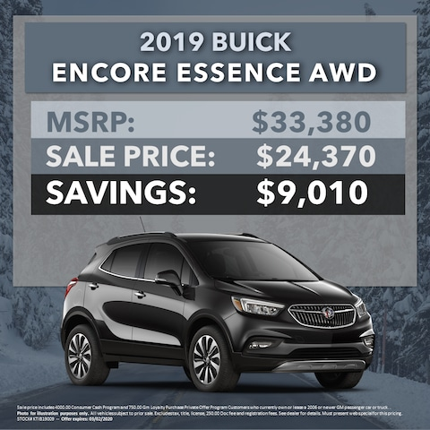 2019 Buick Encore Essence AWD - $9,010 OFF MSRP!