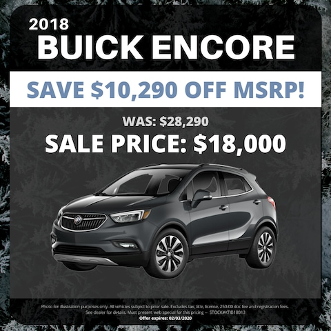 New 2018 Buick Encore - $10,290 OFF MSRP