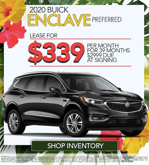 2020 Buick Enclave Preferred  - Lease For $339/month!