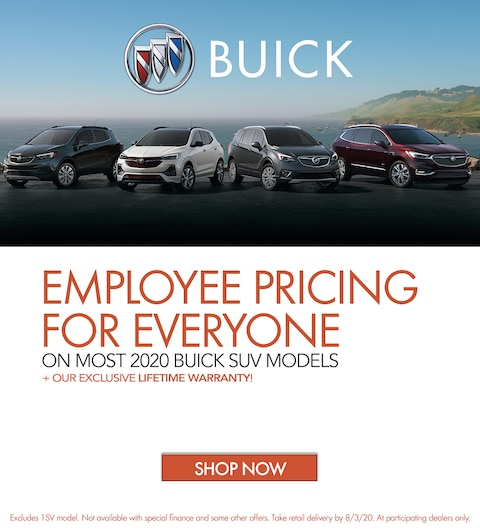 Employee Pricing For Everyone On Most 2020 Buick SUV Models
