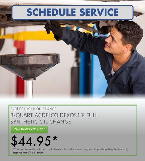 8-QUART ACDELCO DEXOS1® FULL SYNTHETIC OIL CHANGE
