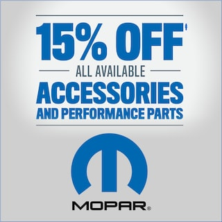 15% Off All Available Accessories and Performance Parts