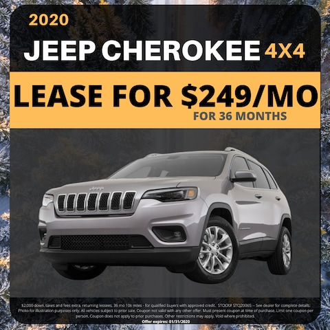 2020 Jeep Cherokee 4x4 - Lease For $249/mo