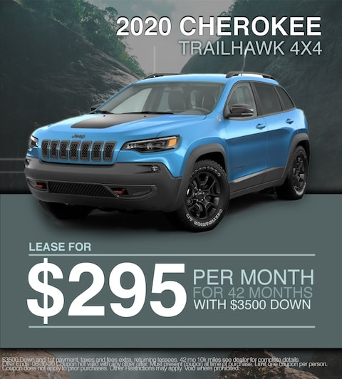 2020 Jeep Cherokee Trailhawk 4X4 - $295/month