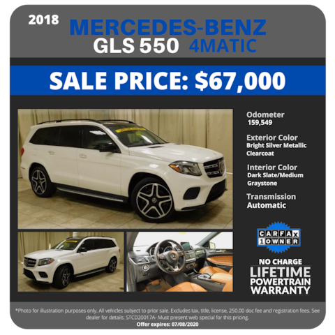 2018 Mercedes-Benz GLS 550 4MATIC - $67,000