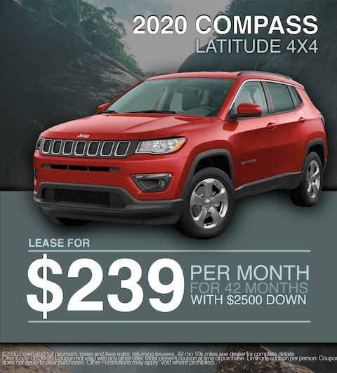 2020 Jeep Compass - Lease For $295 MONTH