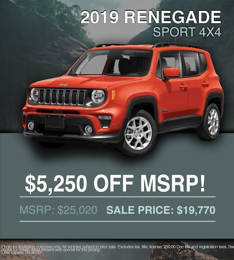 2019 Jeep Renegade Sport - $5,250 OFF MSRP!