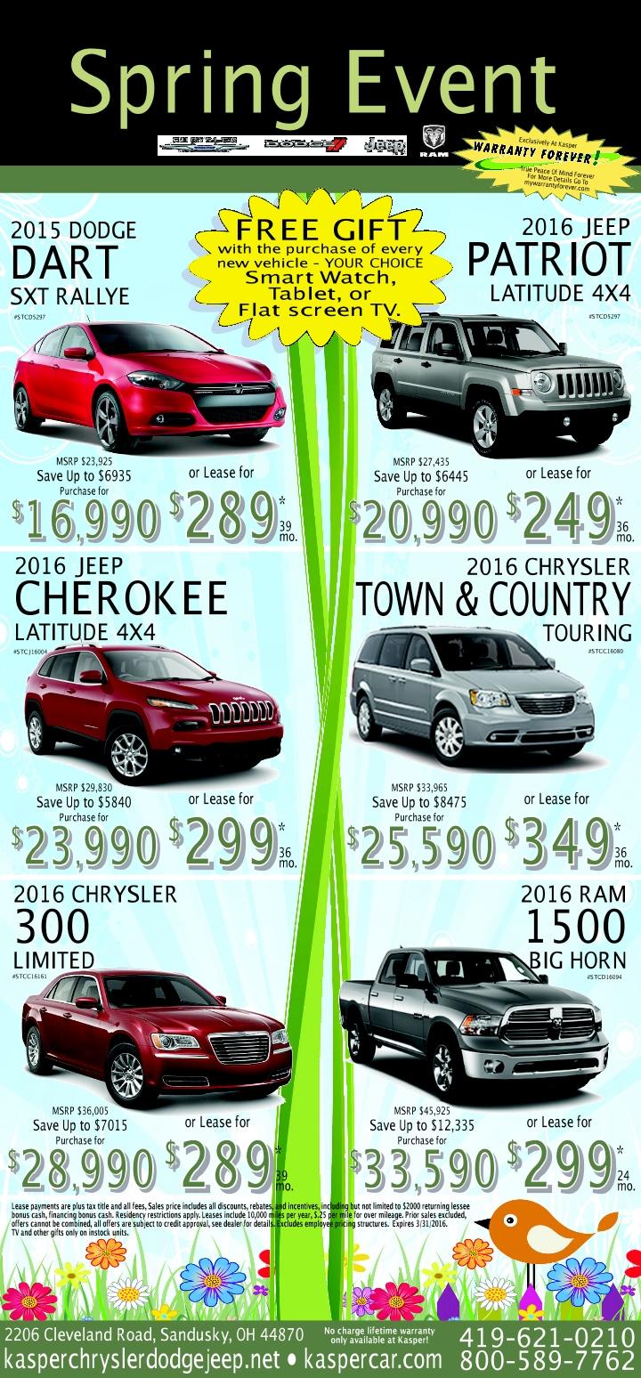 Kasper Chrysler Dodge Jeep RAM Newspaper Ad Sandusky OH