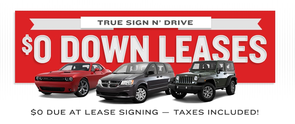 Sign And Drive Lease Deals >> Chrysler Dodge Jeep Ram 0 Down Lease Deals Sandusky