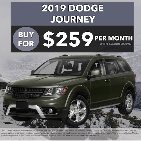 2019 Dodge Journey - Buy For $259/Month!