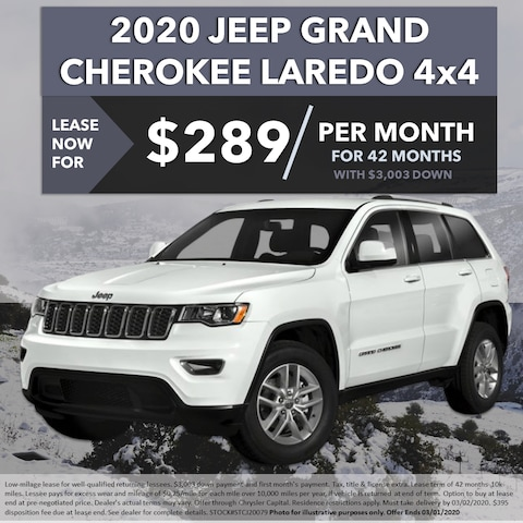 2020 Jeep Grand Cherokee Laredo - Lease For $289/Month