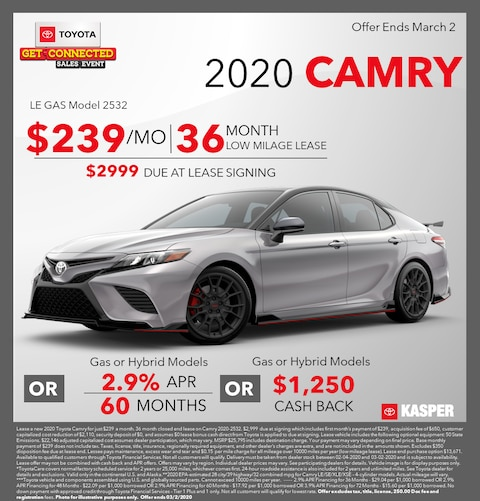 2020 Toyota Camry - Lease/Cash Back/Finance Offers