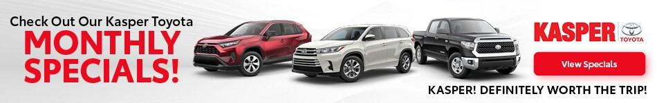 Kasper Toyota Monthly Specials