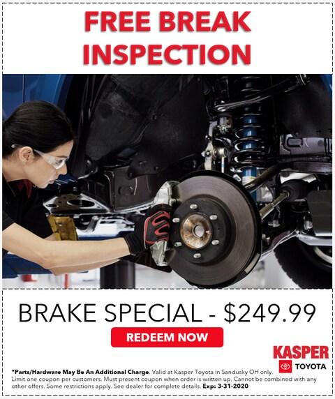 Break Special - $249.99 -- FREE BREAK INSPECTION