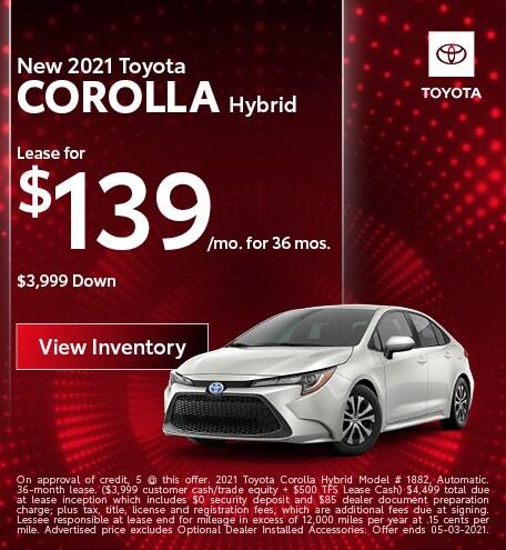 April | 2021 Corolla Hybrid