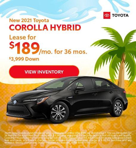 2021 - Corolla Hybrid - September