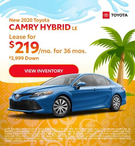 2020 - Camry Hybrid - September