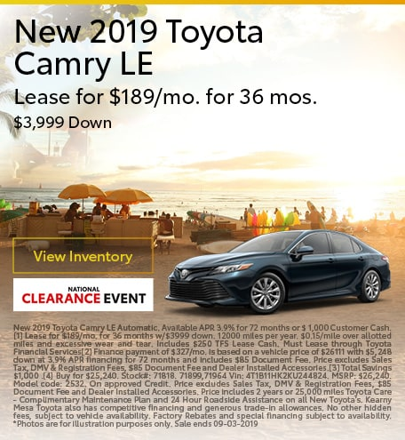 2019 - Camry - August
