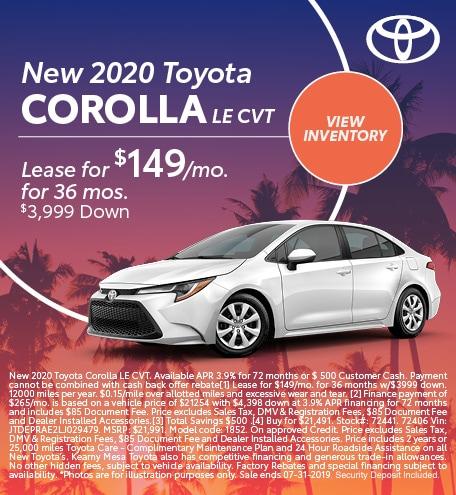 2020 - Corolla - July