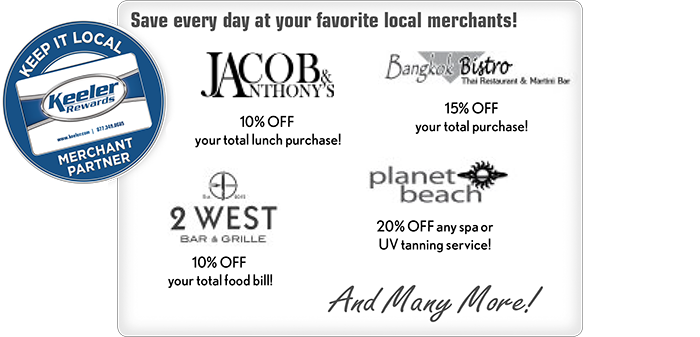 Save every day at your favorite local merchants!