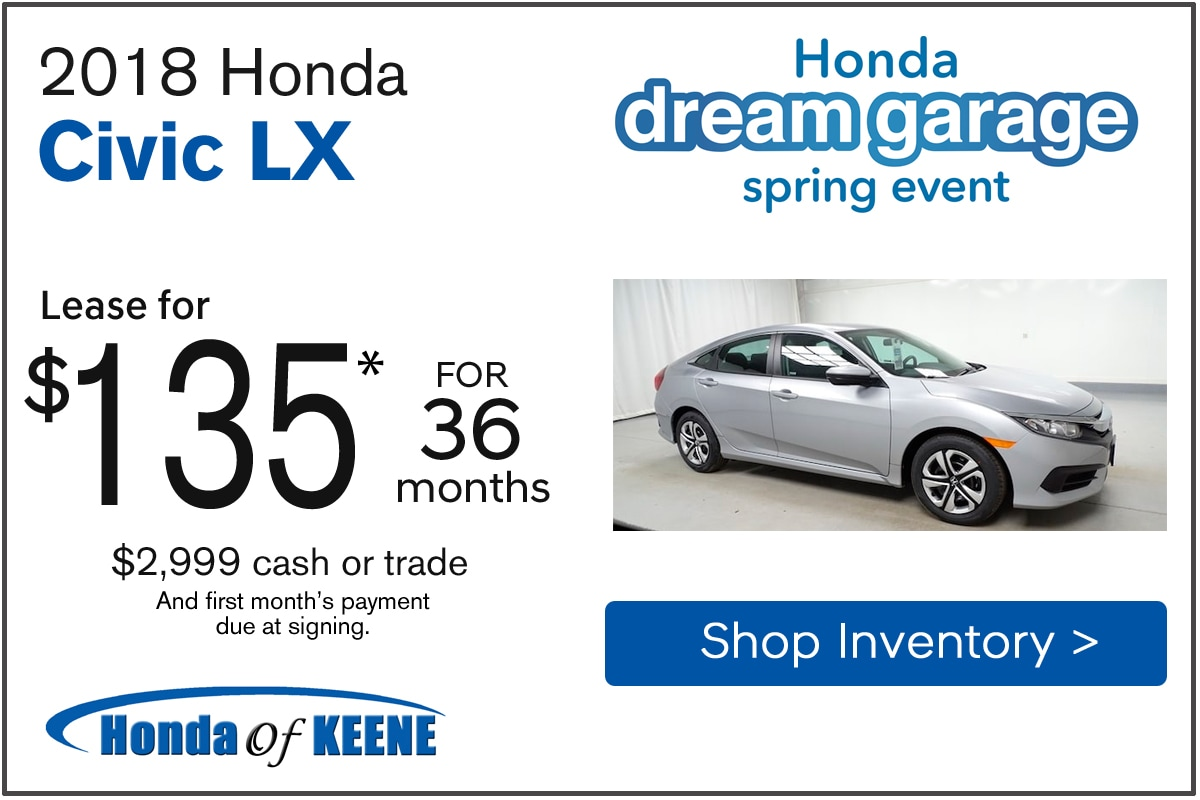 2018 Honda Civic LX Automatic Lease