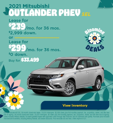 Mitsubishi Outlander PHEV Lease & Purchase Special Offer