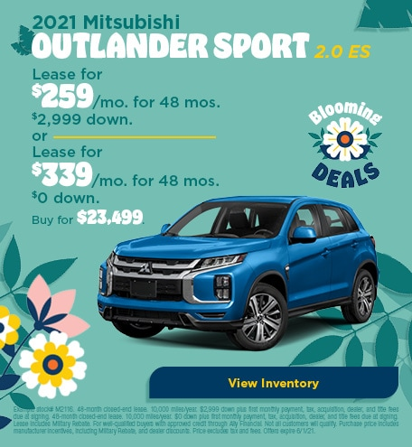 Mitsubishi Outlander Sport Lease & Purchase Special Offer