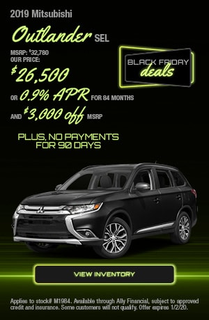 Mitsubishi Outlander Special Offer