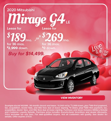 Mitsubishi Mirage G4 Lease & Purchase Special Offer