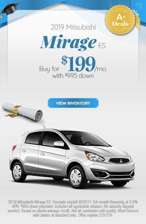 Mitsubishi Mirage ES Special Offer