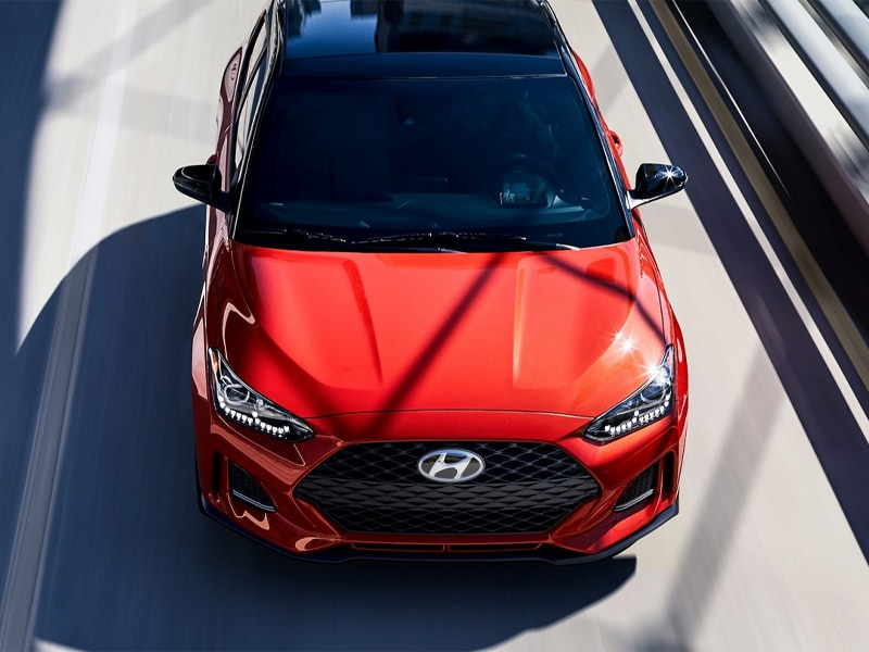 A 2021 Hyundai Veloster emphasizes safety features near Fort Mill SC