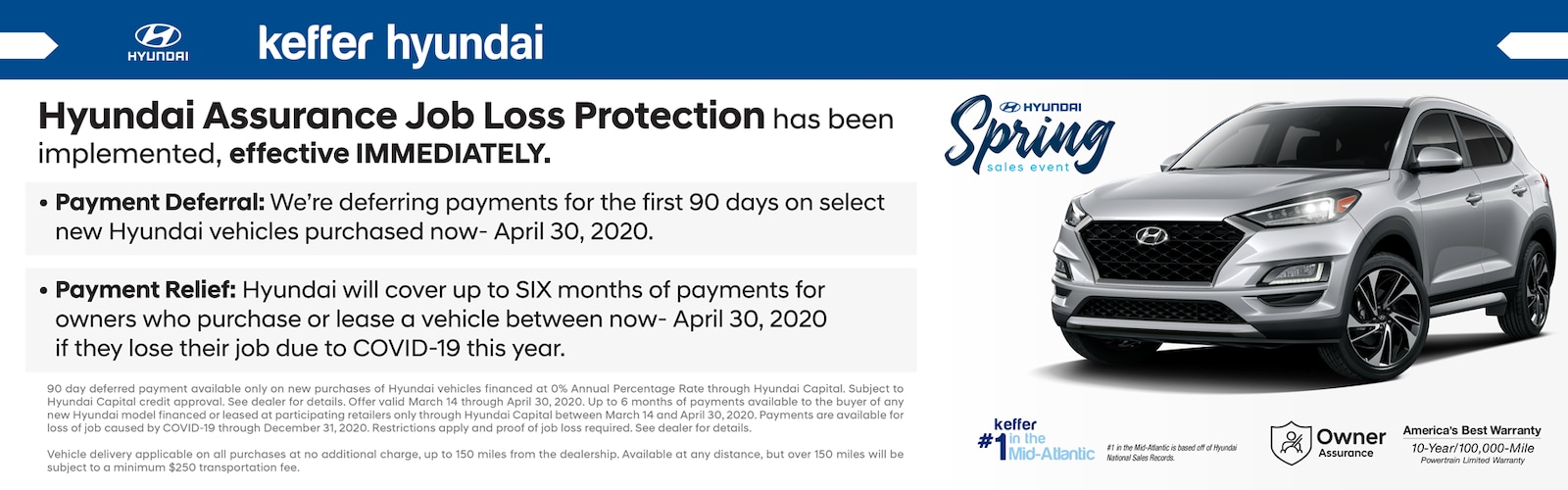 Hyundai Assurance Job Loss Protection in Matthews NC